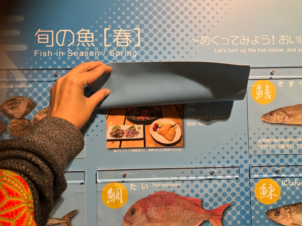 One of the displays shows you how to cook each fish in each season.