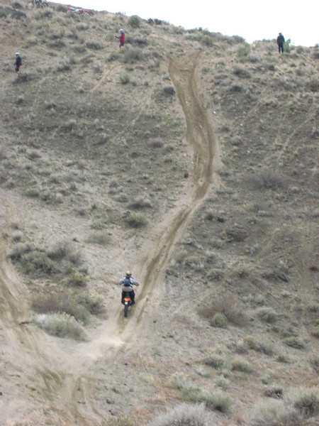 A seriously hard uphill.  Mostly...sand.