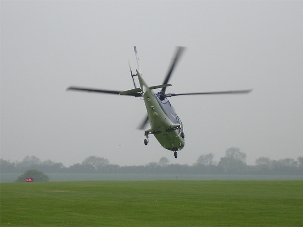 A109 takes off