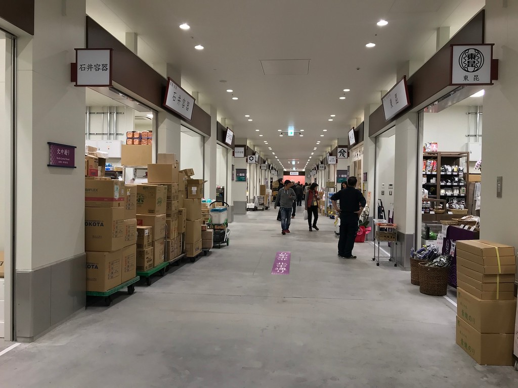 Plenty of space for shoppers and market workers.