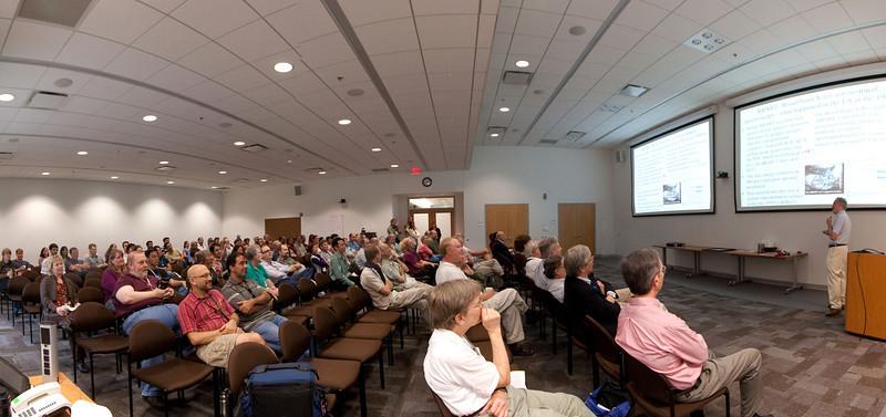 panorama (three 10mm shots) -- Celebration of Peter Serlemitsos' 50 years at NASA/Goddard Space Flight Center (Sept 2011)