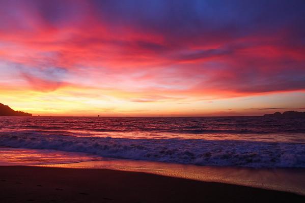 Baker Beach - Pacific Sunset