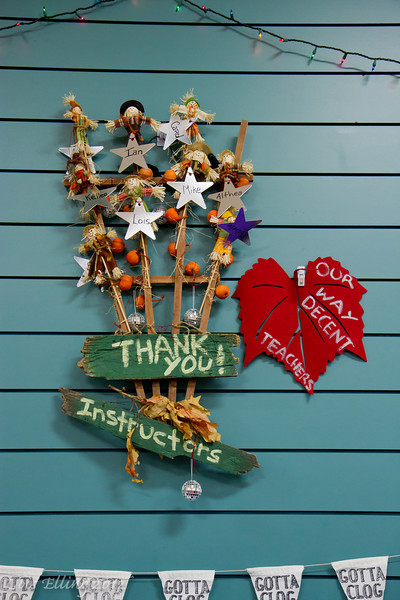 Part of the fabulous decorations at Late Harvest Stomp, 2012.