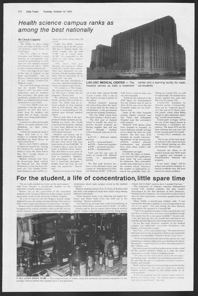 Daily Trojan, Vol. 75, No. 16, October 10, 1978