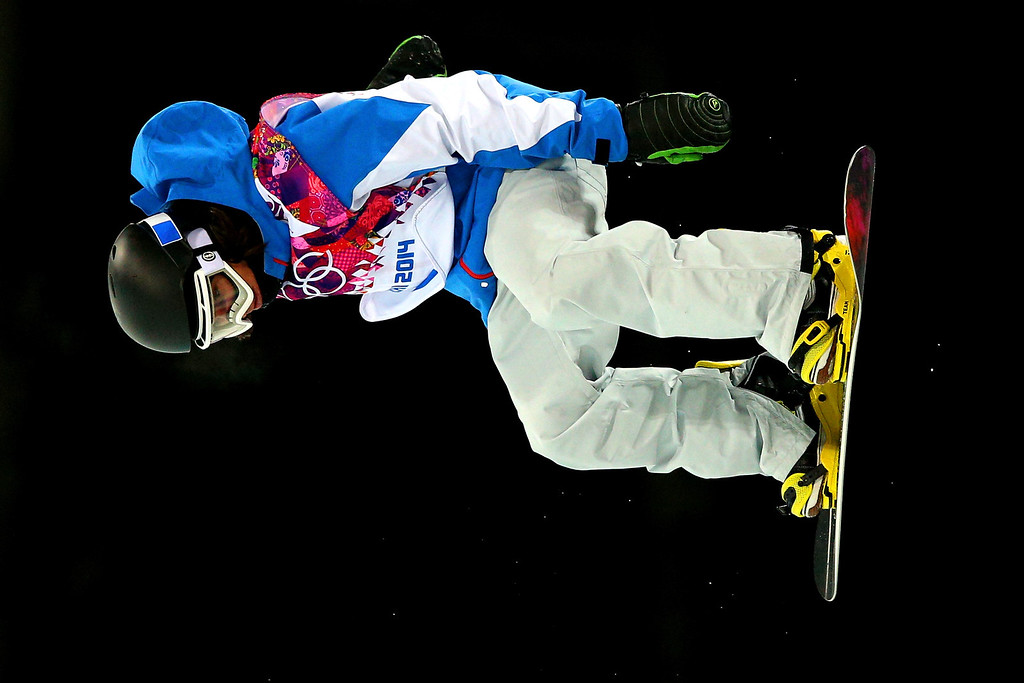 . Arthur Longo of France competes in the Snowboard Men\'s Halfpipe Semifinal on day four of the Sochi 2014 Winter Olympics at Rosa Khutor Extreme Park on February 11, 2014 in Sochi, Russia.  (Photo by Cameron Spencer/Getty Images)