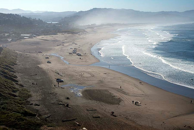 From atop Cape Kiwanda : in the morning