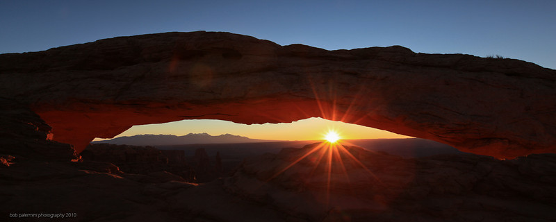 2560x1080 desktop wallpaper, free for you to use, Creative Commons 3 (Attribution-NonCommercial-ShareAlike). Sunrise at Canyonlands, Utah, 2010.