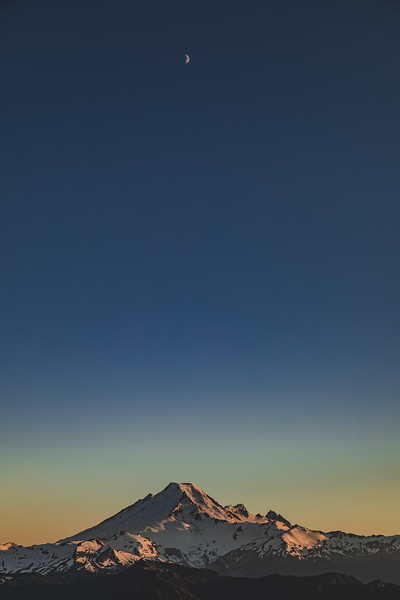 Moon over Mt. Baker