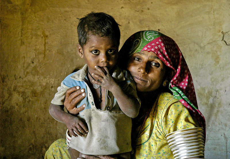 Mother and Son, Rajasthan, India