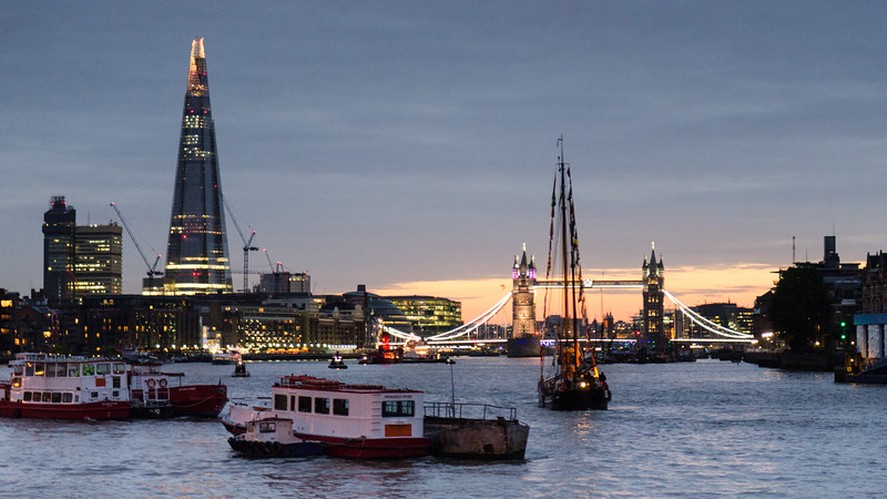 Sailing barge on the River Thames
