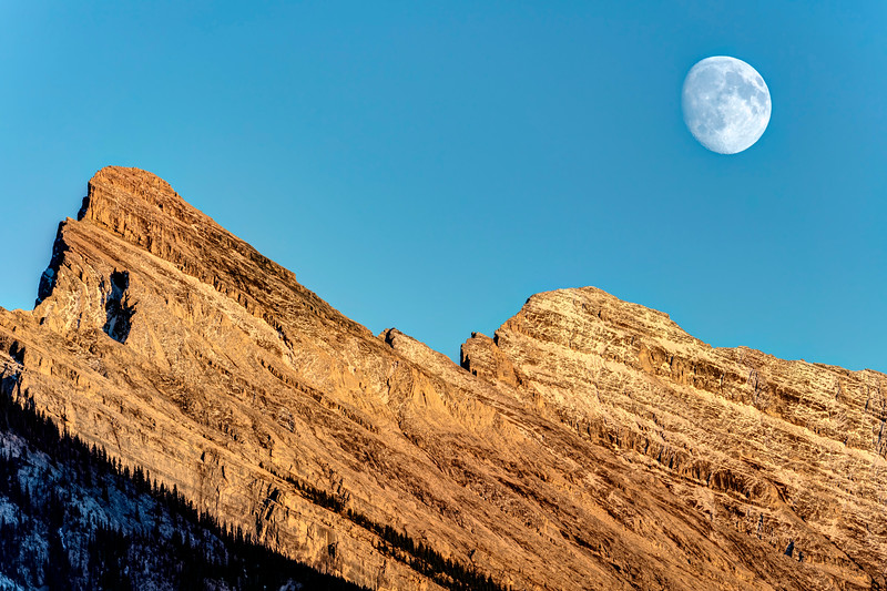 Rising Moon at Banff