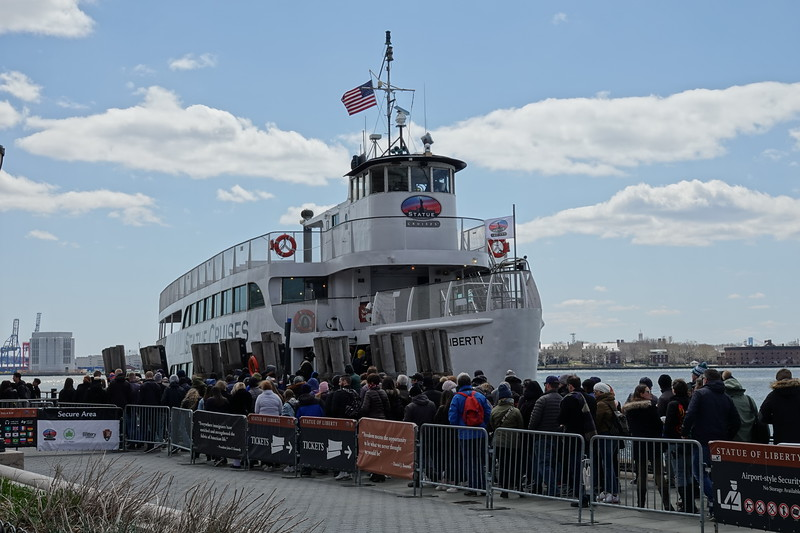 Ferry to the Statue of Liberty.