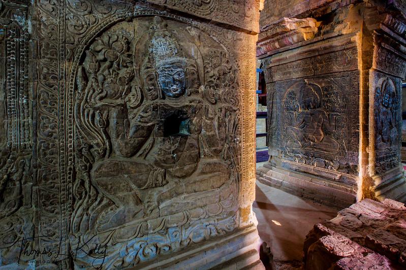 The Manuha Paya Temple in Bagan.
