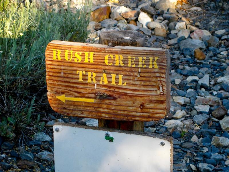 Rush Creek Trailhead, just behind Silver Lake Resort area. See map Green line