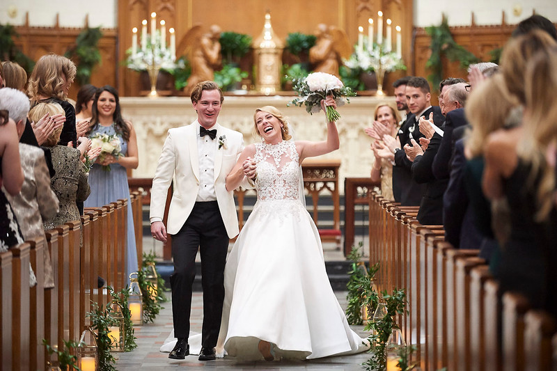 Alex & Steven Sykes Wedding at the Holy Rosary Church in Houston, TX, 2018