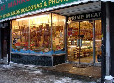 One of the five remaining pork stores in Ridgewood. 2005.