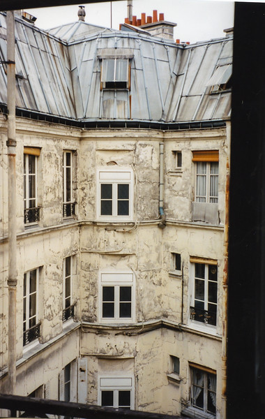 View of inner courtyard of La Bourdonnais Hotel, Paris, France, 1996