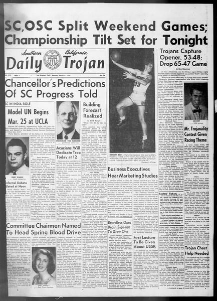 Daily Trojan, Vol. 45, No. 88, March 08, 1954