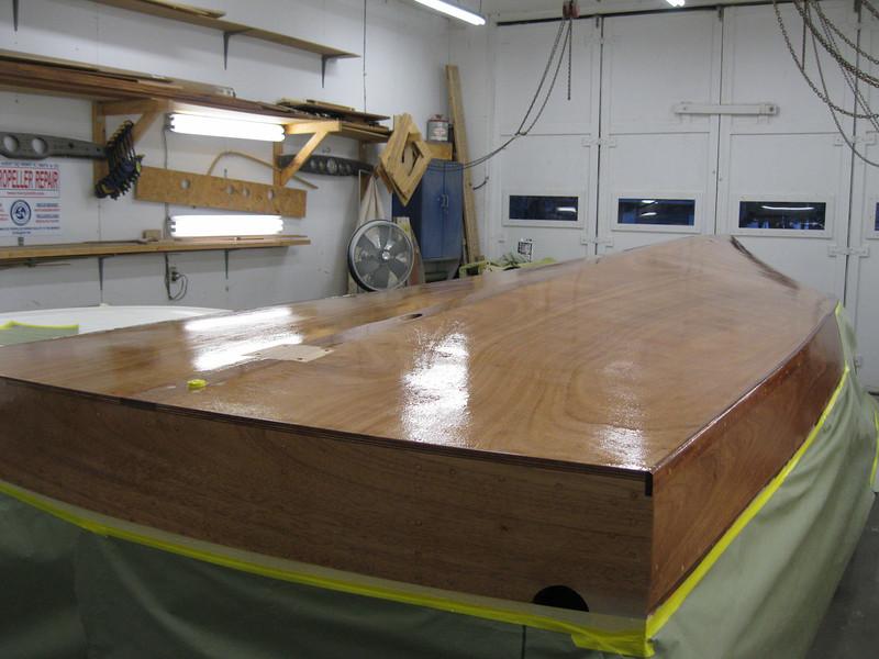 Rear port view of epoxy applied.