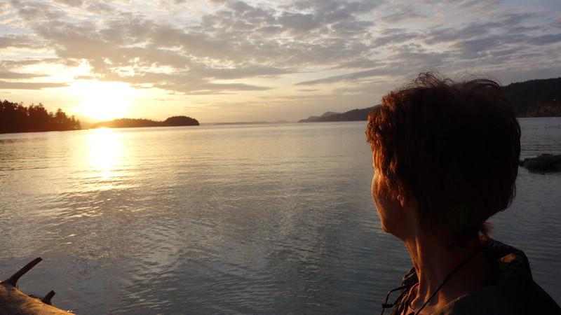 Jo-Anne enjoying the sunset.
