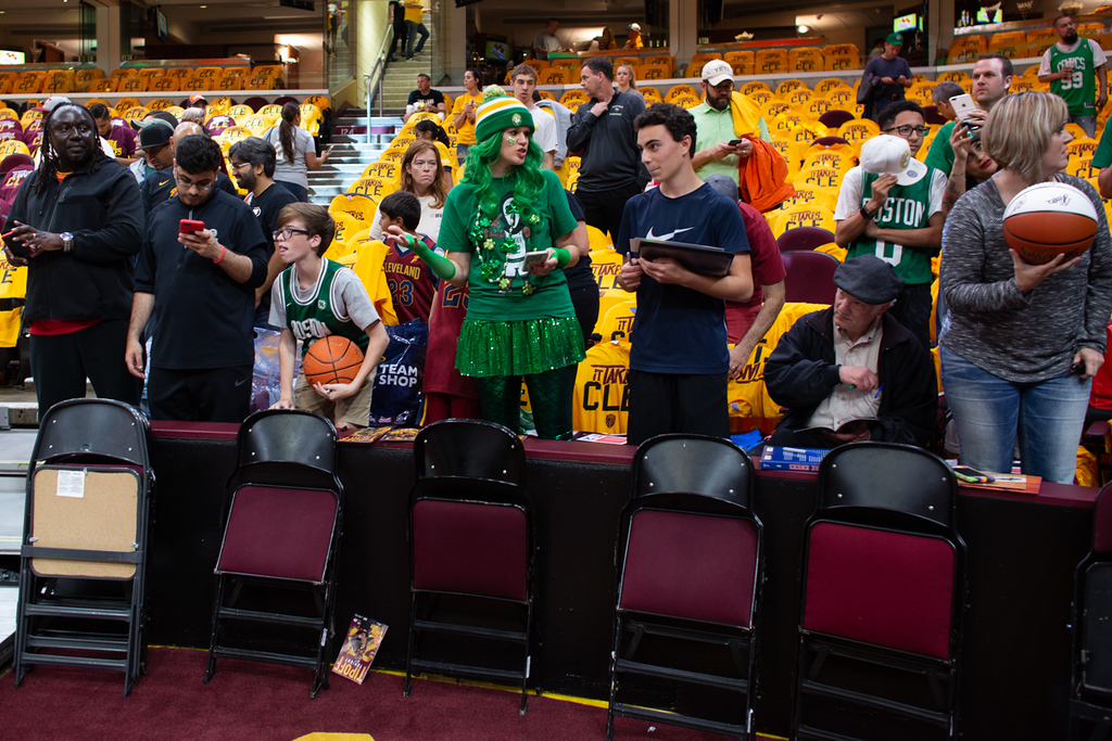 . Michael Johnson - The News-Herald A Celtics fan in Cavaliers territory on may 19, 2018.