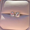 3.49ctw Old Mine Cushion Cut Diamond Pair GIA K VS1 9
