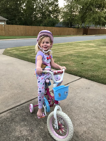 Reese on Bike