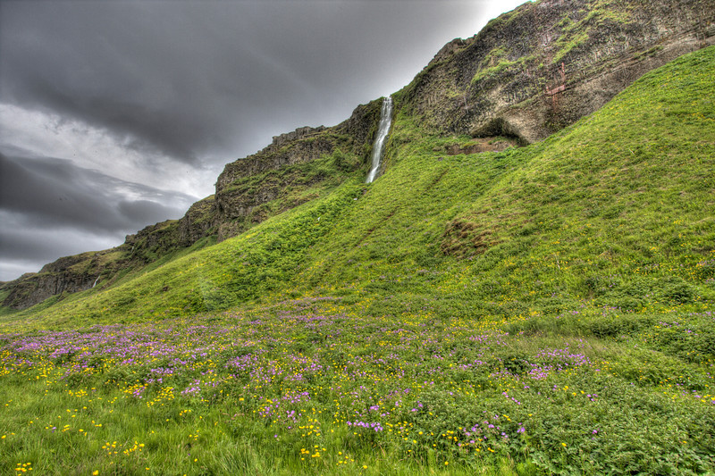 Waterfall in South Iceland (HDR)