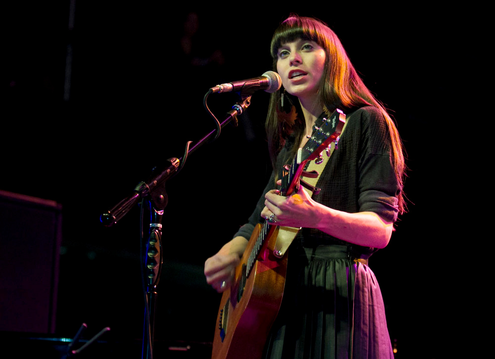 . In this Wednesday, March 13, 2013 photo, The Trishas perform at the Austin Music Awards ceremony at the Austin Music Hall in Austin, Texas. (AP Photo/Austin American-Statesman, Jay Janner)