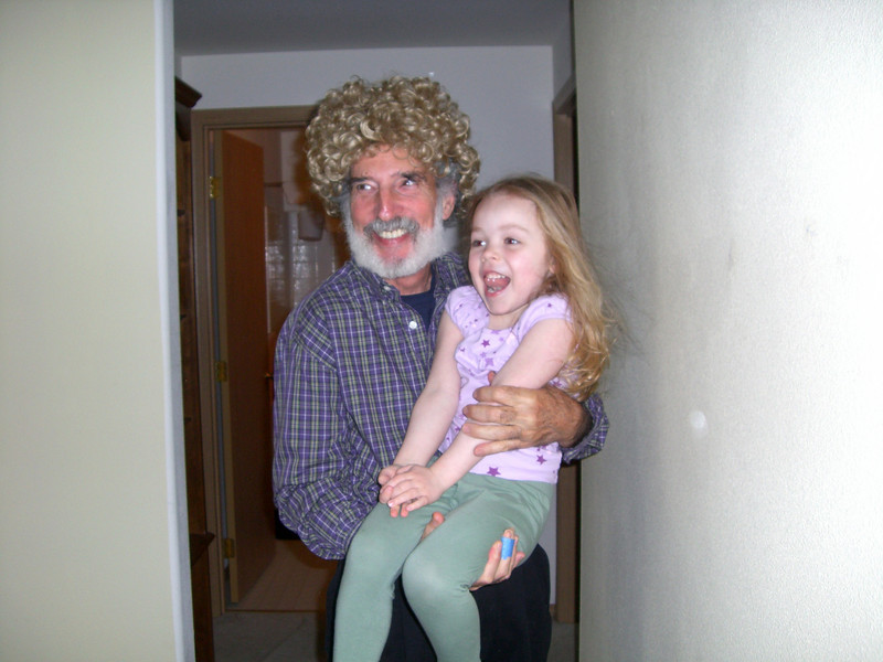 Not sure where the wig came from, but it's Papa Ben's turn.