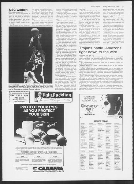 Daily Trojan, Vol. 98, No. 49, March 22, 1985