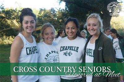 Cross Country Seniors Honored