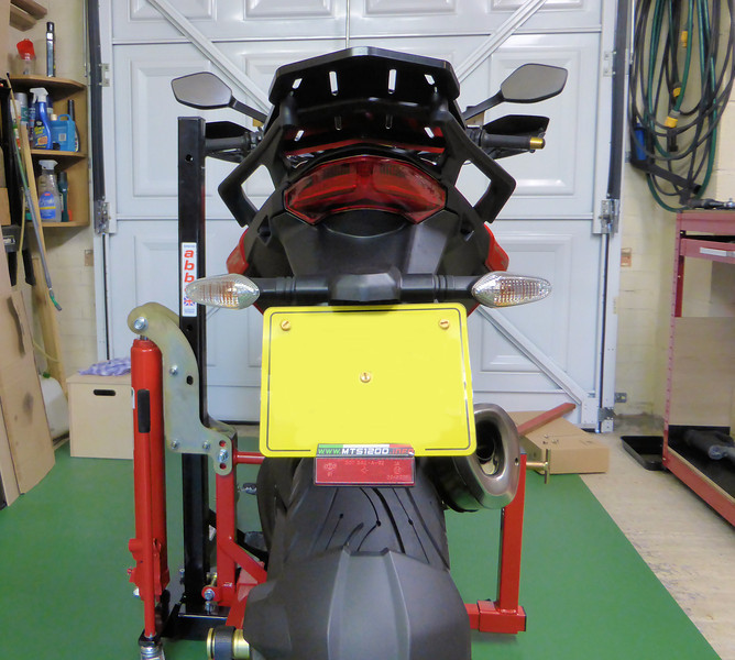 Multistrada 1200 rear indicators swapped for Panigale LED indicators - before......see next photo