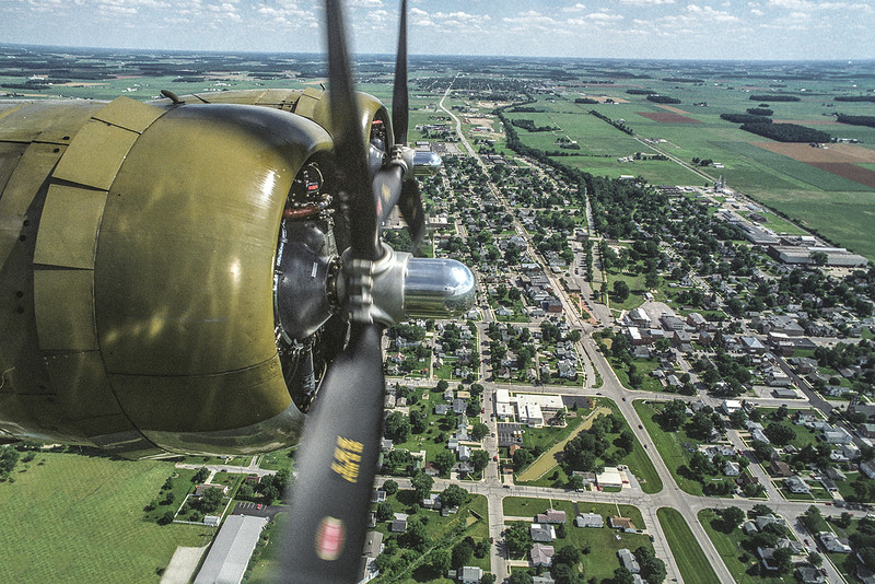 View from Boeing B-17 Flying Fortress