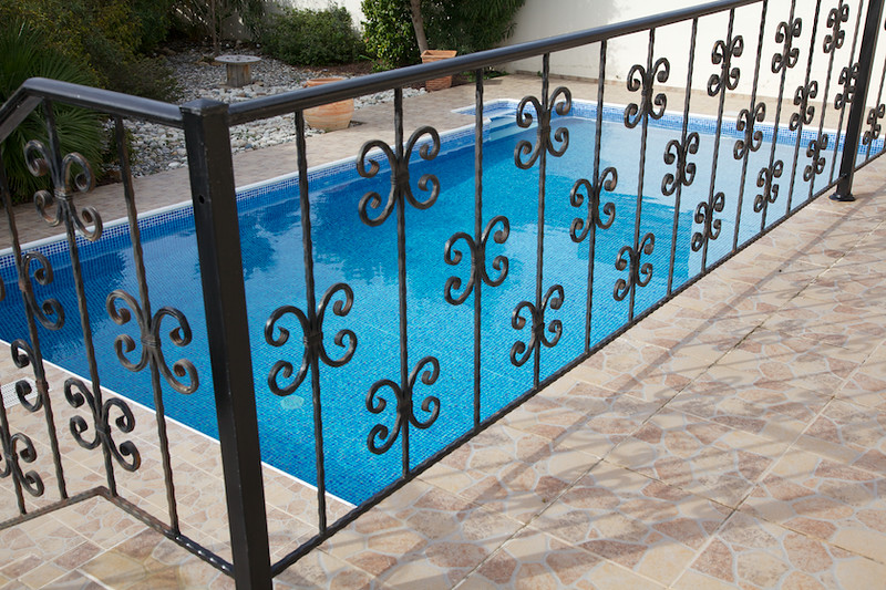 The pool is secure with a gate