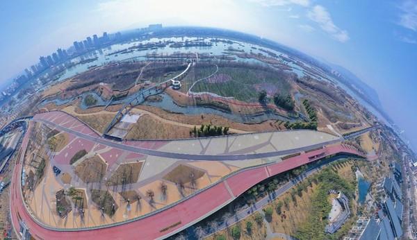 Wooden plank Road, Tianhan Wetland Park天汉湿地公园木栈道