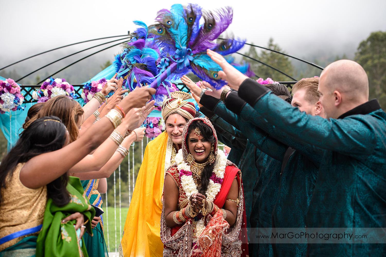 exit form indian wedding ceremony at Brazilian Room - Tilden Regional Park, Berkeley