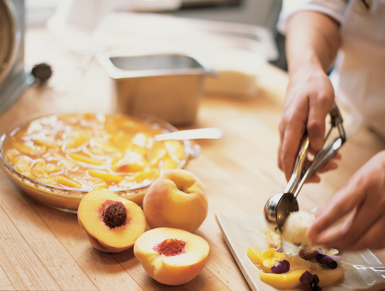 River Café Peach Pie