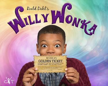 8x10 Willy Wonka Banner golden ticket 2