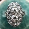 1.75ctw Edwardian Toi et Moi Old European Cut Diamond Ring  29