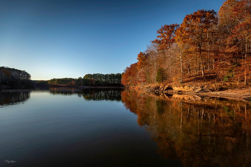 """""""Falls Lake Fall Sunset"""""""