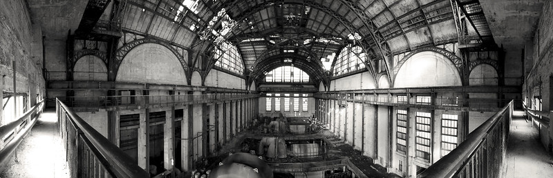 Panorama from the top catwalk of the Turbine Hall.