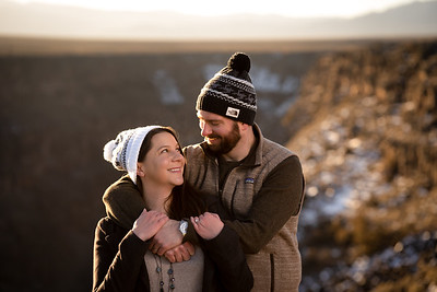 Adventure Engagement Session - Taos, New Mexico Sunrise at the Gorge