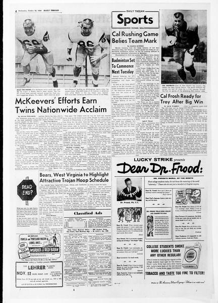 Daily Trojan, Vol. 51, No. 27, October 28, 1959
