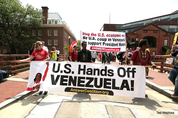 March to White House from Embassy of Venezuela