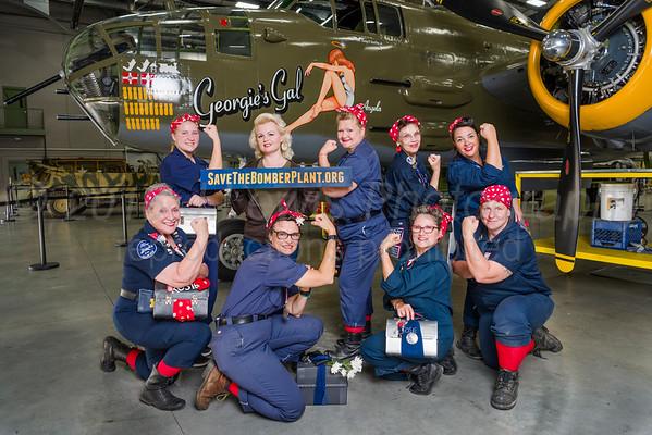 Willow Run Tribute Rosies Lunchbox Drill Team