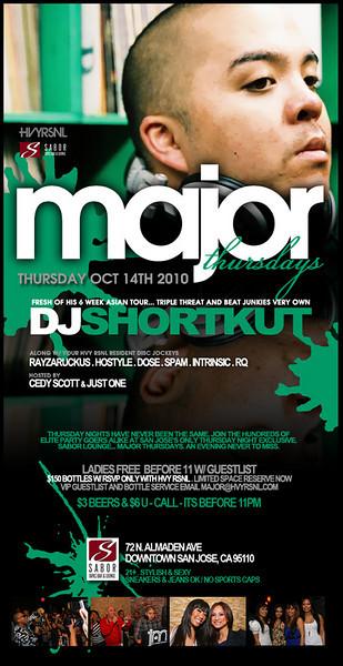 Major Thursdays @ Sabor Tapas Bar & Lounge 10.14.10