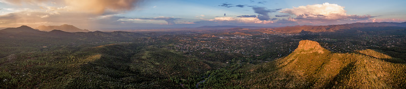 Thumb Butte and Granite Mtn. aerial pano