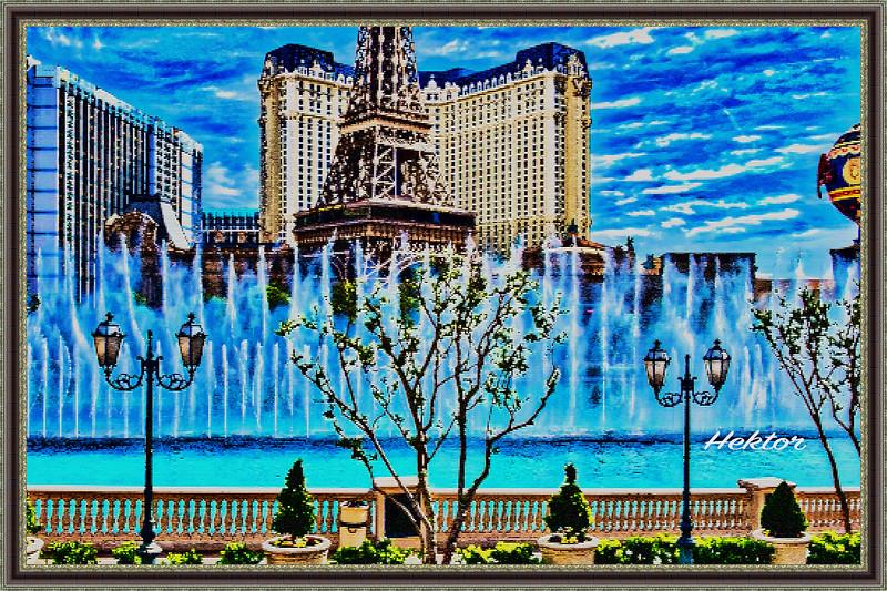 Paris, Las Vegas with Bellagio's Fountains