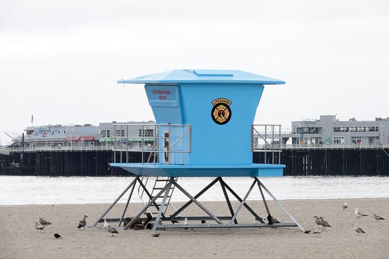 A Santa Cruz lifeguard station